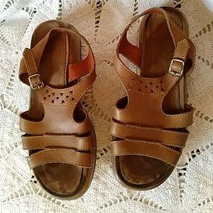 Dansko tan leather sandals-sz 9
